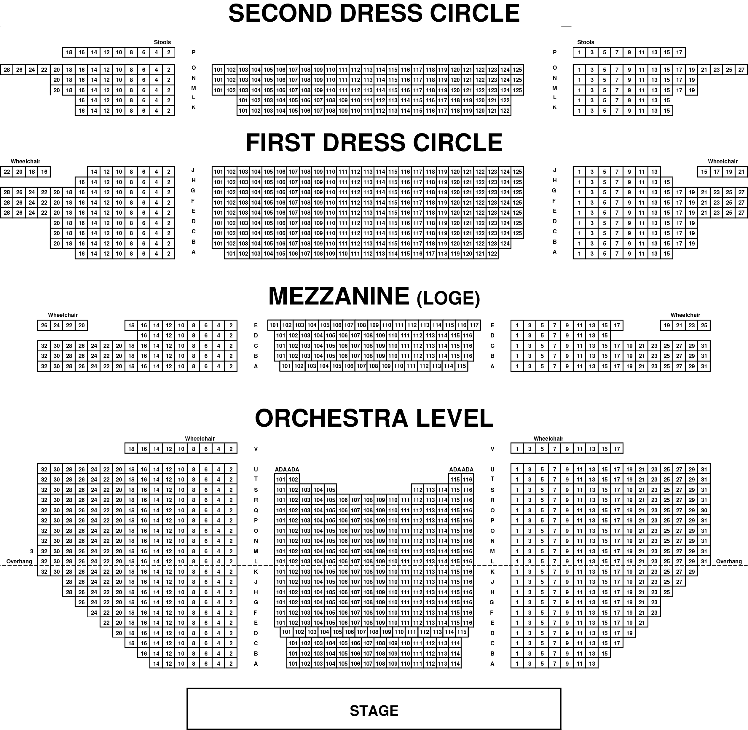 Richmond Carpenter Theater Seating Chart