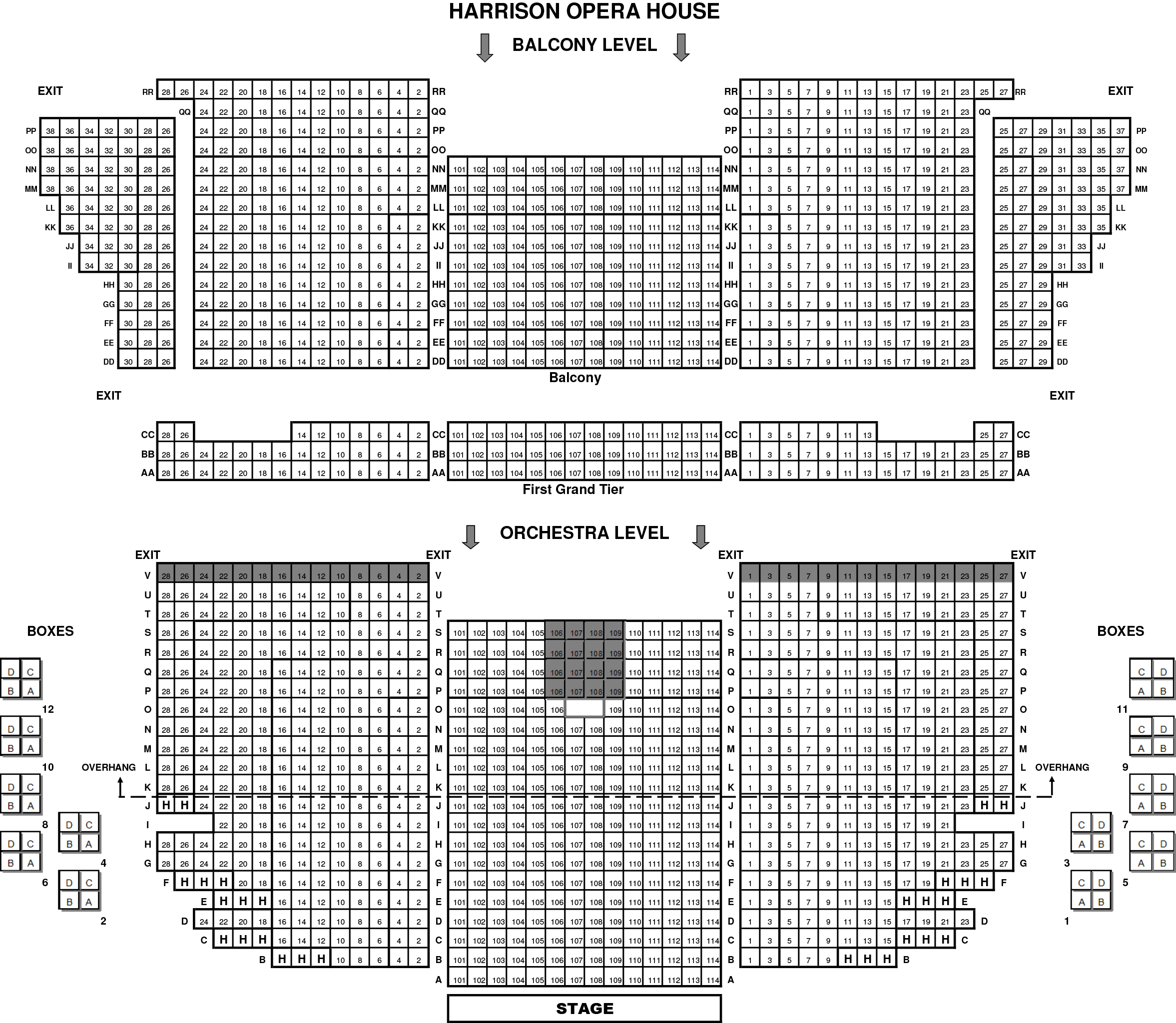 Norfolk Harrison Opera House Seating Chart